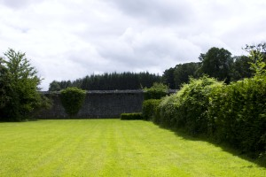 The Victorian walled garden at Strokestown, now in decay but slowly being restored, is a testament to the ruling class's desire to transform and control the Irish landscape, creating manicured, directed nature, within the confines of the ascendancy landholdings.